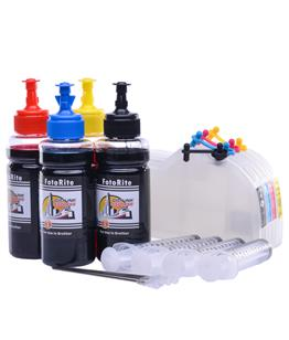 Refillable LC1100 Multipack Cheap printer cartridges for Brother DCP-195 LC980 dye ink