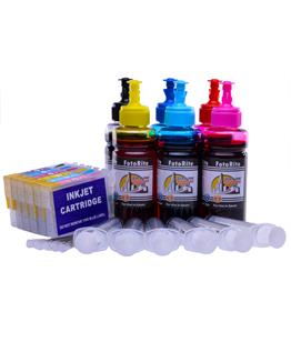 Refillable T0807 Multipack Cheap printer cartridges for Epson Stylus PX650 C13T08074010 dye ink