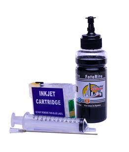 Refillable T1281 Black Cheap printer cartridges for Epson Stylus BX305FW plus C13T12814010 dye ink