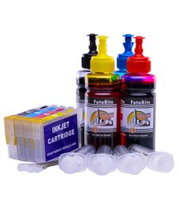 Refillable  Multipack Cheap printer cartridges for Epson WF-3520dwf C13T13054010 dye ink