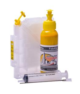 Refillable pigment Cheap printer cartridges for Ricoh GX3000SF Ricoh GC21 405335 Yellow