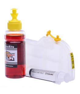 Refillable LC-123Y Yellow Cheap printer cartridges for Brother MFC-J870DW LC-123Y dye ink