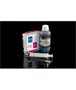 Refillable HP 11 Magenta Cheap printer cartridges for HP CP 1700D C4837AE dye ink
