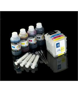 Multipack Cheap printer cartridges for HP CP 1700D | Refillable dye and pigment ink