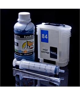 Refillable HP 84 Black Cheap printer cartridges for HP Designjet 130 C5017A dye ink