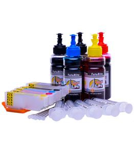 Multipack Cheap printer cartridges for Epson XP-520 | Refillable dye and pigment ink