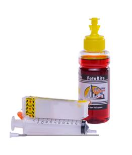 Refillable T2434,T2424 Yellow Cheap printer cartridges for Epson XP-850 C13T24344010 dye ink