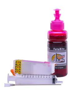 Refillable T2436,T2426 Light Magenta Cheap printer cartridges for Epson XP-55 C13T24364010 dye ink