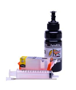Refillable pigment Cheap printer cartridges for Canon Pixma IP4600 2937B001AA CLI-521G Pigment Black