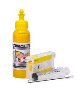 Refillable pigment Cheap printer cartridges for Canon MB2350 9195B001AA PGI-1500XL-Y Yellow
