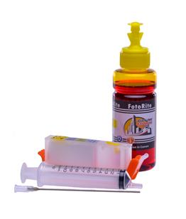 Refillable CLI-571Y Yellow Cheap printer cartridges for Canon Pixma TS8052 0388C001  dye ink