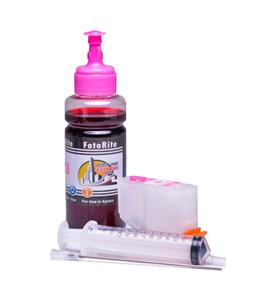 Refillable 378,378XL Light Magenta Cheap printer cartridges for Epson XP-8605  dye ink