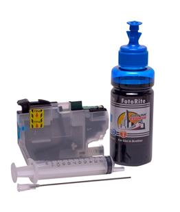 Refillable LC-3211C Cyan Cheap printer cartridges for Brother MFC-J890DW LC-3213C dye ink