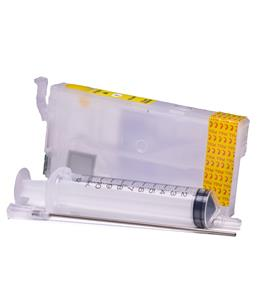 Empty Refillable T3581 Yellow Cheap printer cartridges for Epson WF-4730DTWF C13T35844010