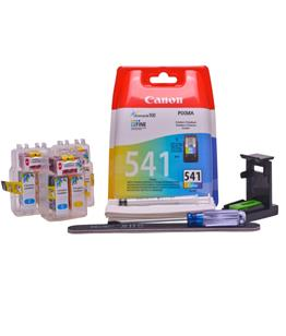 Refillable CL-541XL Colour Pod Cheap printer cartridges for Canon Pixma MX525 CL-541 dye ink