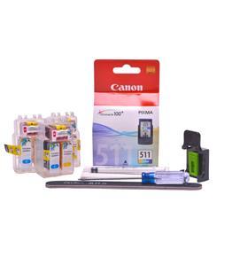 Refillable CL-513 Colour Pod Cheap printer cartridges for Canon Pixma IP2700 CL-511 dye ink