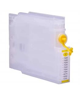 Empty Refillable T7564 Yellow Cheap printer cartridges for Epson WF-8090D3TWC T7554