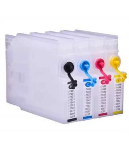 Empty Refillable T7561-4 Multipack Cheap printer cartridges for Epson WF-8590DTWF T7551-4