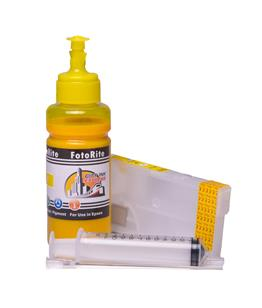 Refillable pigment Cheap printer cartridges for Epson WF-4745DTWF C13T07U440 T07U4 Yellow