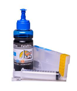 Refillable T3582 Cyan Cheap printer cartridges for Epson WF-4730DTWF C13T35824010 dye ink