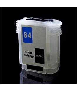 Empty Refillable HP 84 Black Cheap printer cartridges for HP Designjet 130 C5017A
