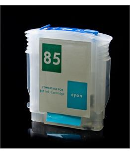 Empty Refillable HP 85 Cyan Cheap printer cartridges for HP Designjet 130gp C9425A
