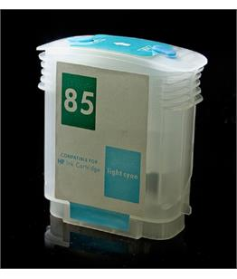 Empty Refillable HP 85 Light Cyan Cheap printer cartridges for HP Designjet 130 C9428A