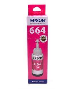 Epson T6643 Magenta original dye ink refill Replaces ET-3600