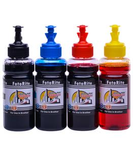 Cheap Multipack dye ink refill replaces Brother MFC-T800W