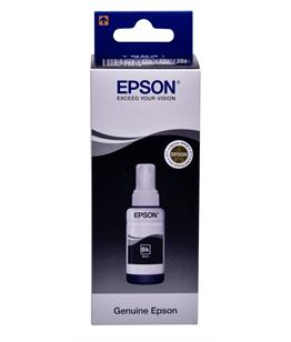Epson T6641 Black original dye ink refill Replaces WF-2810DWF