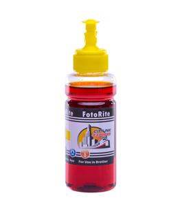 Cheap Yellow dye ink refill replaces Brother DCP-540C - LC-1000Y