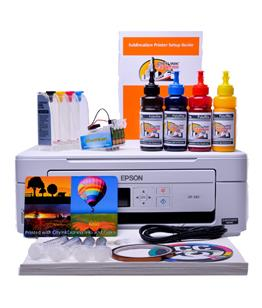 Sublimation printer package for Epson XP-345 printer